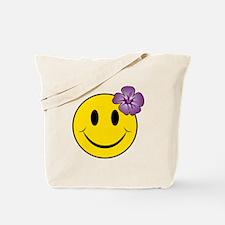 Unique A smiley face girl Tote Bag