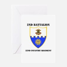 DUI - 2nd Bn - 22nd Infantry Regt with Text Greeti
