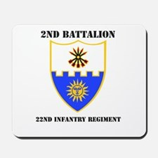 DUI - 2nd Bn - 22nd Infantry Regt with Text Mousep