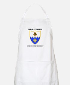 DUI - 2nd Bn - 22nd Infantry Regt with Text Apron