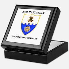 DUI - 2nd Bn - 22nd Infantry Regt with Text Keepsa