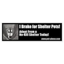 """I brake for shelter pets"" Stickers"