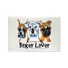 Boxer Lover Rectangle Magnet