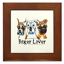 Boxer Lover Framed Tile