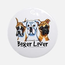 Boxer Lover Ornament (Round)