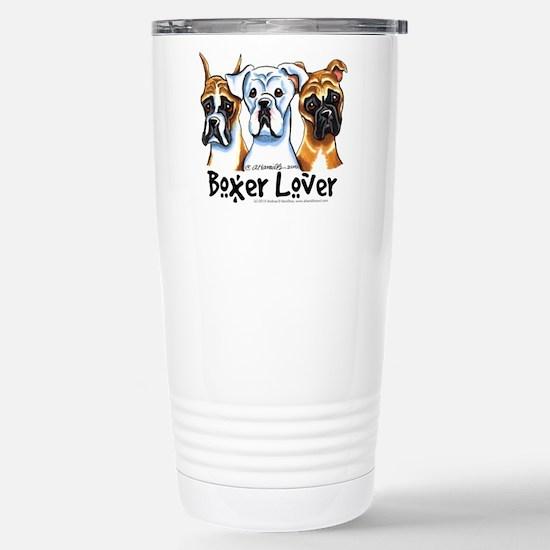 Boxer Lover Stainless Steel Travel Mug