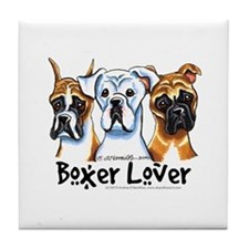 Boxer Lover Tile Coaster