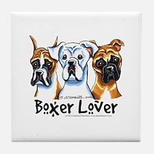 Boxer Lover Tile Coaster