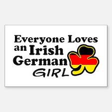 Irish German Girl Decal