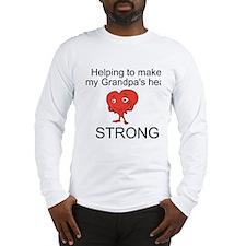 Grandpa Heart Awareness Long Sleeve T-Shirt