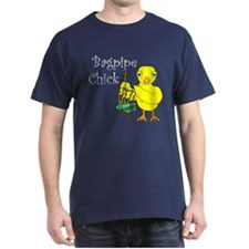 Bagpipe Chick Text T-Shirt