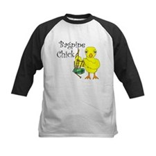 Bagpipe Chick Text Tee