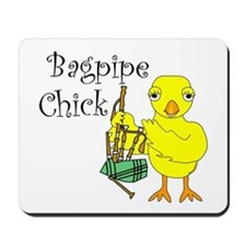 Bagpipe Chick Text Mousepad