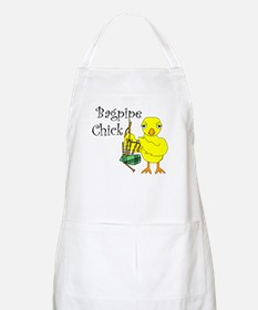 Bagpipe Chick Text Apron