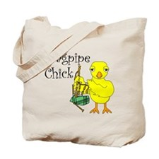 Bagpipe Chick Text Tote Bag