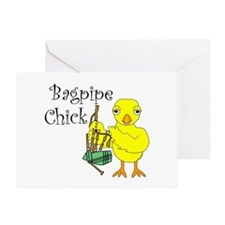 Bagpipe Chick Text Greeting Card