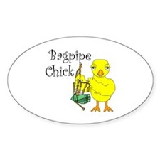 Bagpipe Chick Text Decal