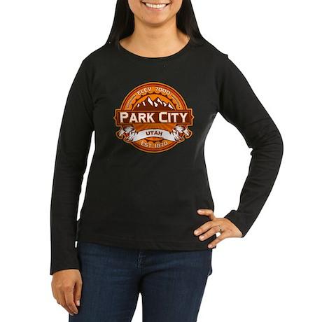 Park City Tangerine Women's Long Sleeve Dark T-Shi