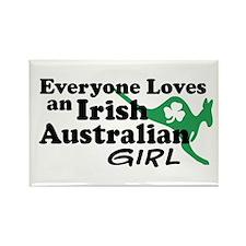 Irish Australian Girl Rectangle Magnet
