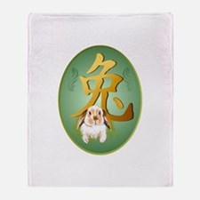Year Of The Rabbit Throw Blanket