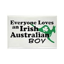 Irish Australian Boy Rectangle Magnet