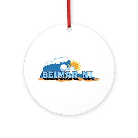 Belmar NJ - Waves Design Ornament (Round)