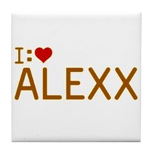 I Heart Alexx Tile Coaster