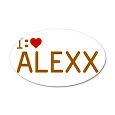 I Heart Alexx 22x14 Oval Wall Peel
