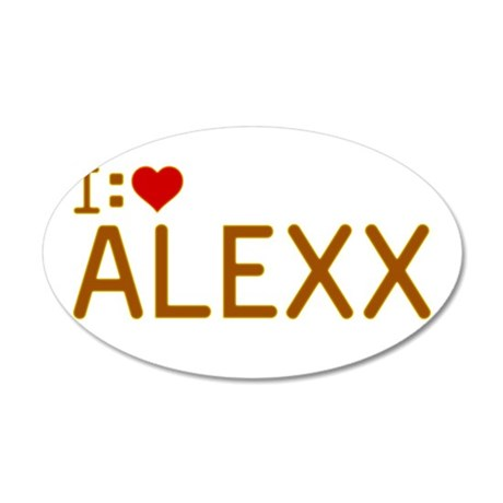 I Heart Alexx 22x14 Oval Wall Peel