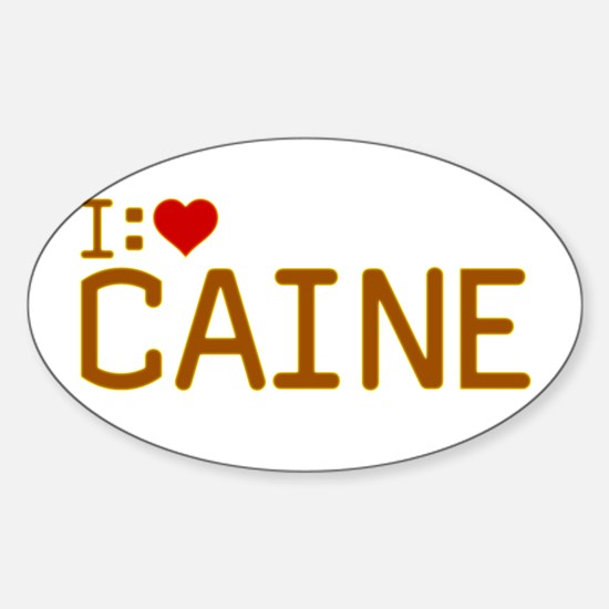 I Heart Caine Sticker (Oval)