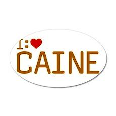 I Heart Caine 22x14 Oval Wall Peel