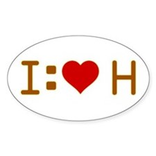 I Heart H Decal