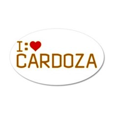 I Heart Cardoza 22x14 Oval Wall Peel