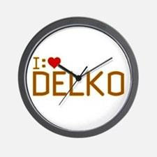 I Heart Delko Wall Clock