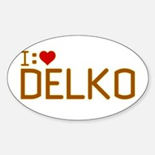 I Heart Delko Decal