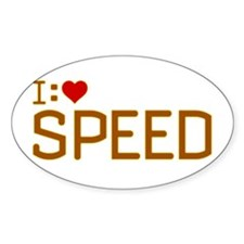 I Heart Speed Decal