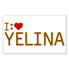 I Heart Yelina Decal