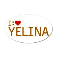 I Heart Yelina 22x14 Oval Wall Peel