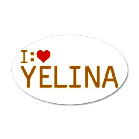 I Heart Yelina 38.5 x 24.5 Oval Wall Peel