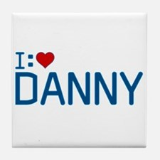 I Heart Danny Tile Coaster