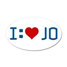 I Heart Jo 22x14 Oval Wall Peel