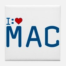 I Heart Mac Tile Coaster
