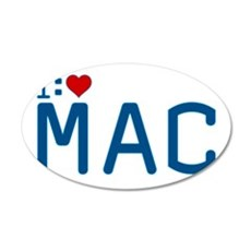 I Heart Mac 22x14 Oval Wall Peel