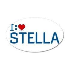 I Heart Stella 22x14 Oval Wall Peel