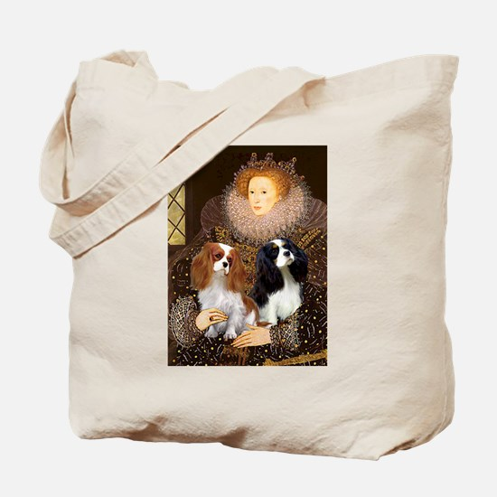 Queen / Two Cavaliers Tote Bag