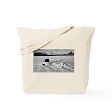 Sunk Snowman Tote Bag