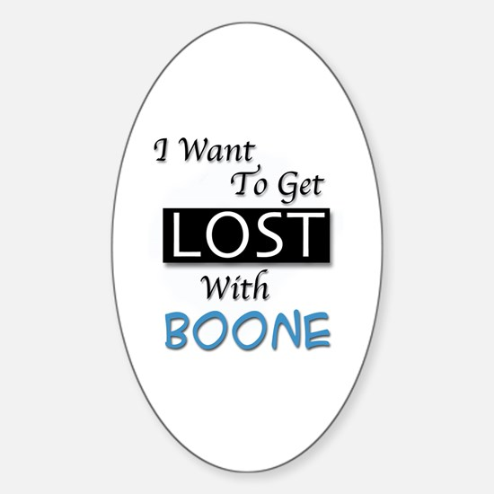 Get Lost With Boone Sticker (Oval)