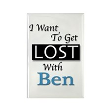 Get Lost With Ben Rectangle Magnet