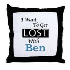 Get Lost With Ben Throw Pillow
