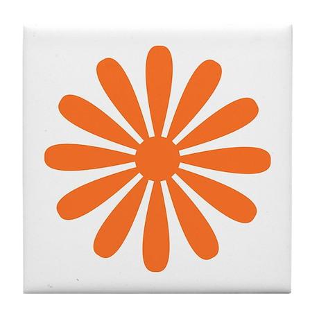 Orange Daisy Tile Coaster